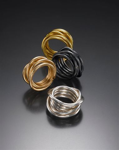 Rings. 14K gold. Gold-filled. Fine Silver.Oxidized Fine Silver.